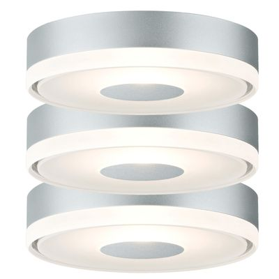 Paulmann Premium Einbauleuchte Set Circle rund LED 3x4W 12VA 110mm Alu matt/Satin Metall/Acryl