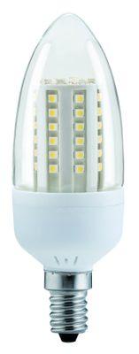 281.08 Paulmann E14 Fassung LED Kerze 3W E14 Klar Warmweiß 250 lm