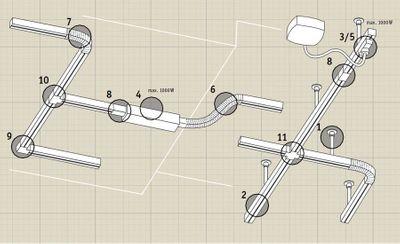 Paulmann Chrom Matt U-Rail URail 230V Schienensystem Stangensystem Zubehör Komponenten