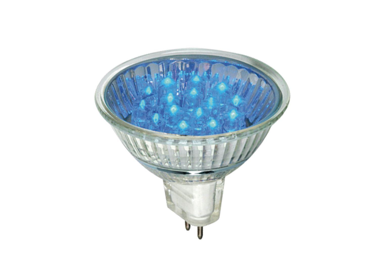 LED Reflektor 20° 1W GU5,3 12V 51mm Blau