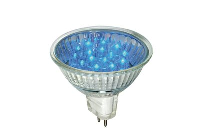 LED Reflektor 20° 1W GU5,3 12V 51mm Blau