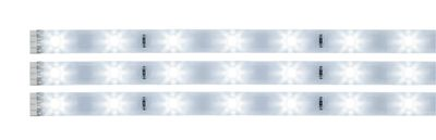 702.13 Paulmann YourLED Function YourLED Stripe Pack 3x97cm Tageslichtweiß 3x3,12W 12V DC Ws Kunststoff