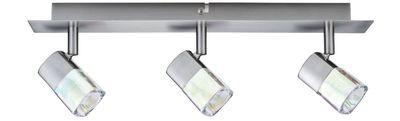 Paulmann Spotlights Hoya Balken 3x42W G9 Nickel satiniert/Glas dichroic 230V Metall/Glas