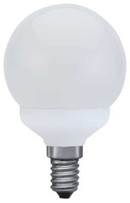 883.11 Paulmann E14 Fassung ESL Mini Globe 60 11W E14 Warmweiß