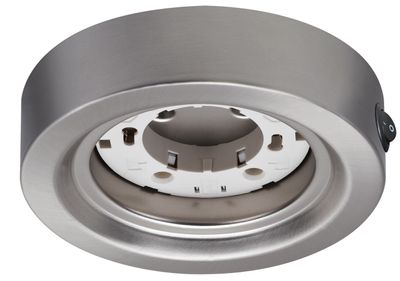 930.01 Paulmann Möbelleuchten Möbel ABL rund ESL Disc max. 13W 230V GX53 Eisen gebürstet/Metall