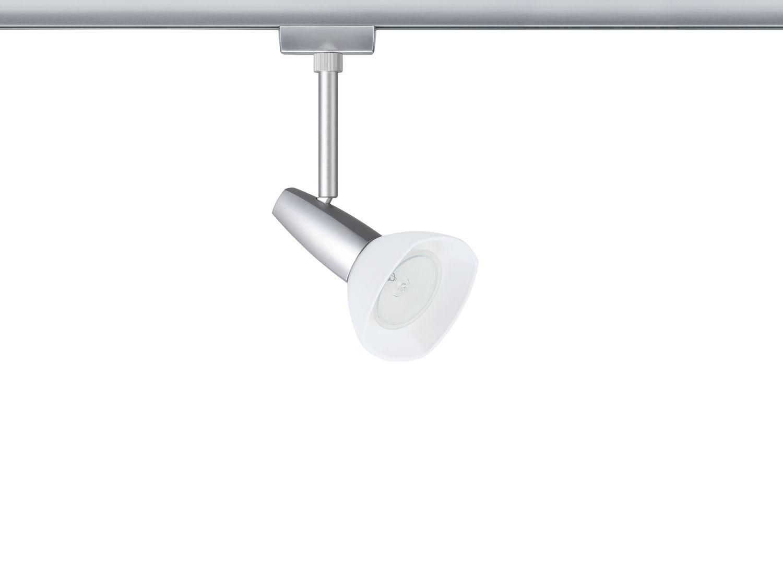Paulmann U-Rail Einzelteile 96847 URail System Light&Easy Spot Barelli 1x40W GZ10 Titan/Opal 230V Metll/Glas