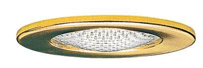 984.82 Paulmann Möbelleuchten Möbel EBL Schutzglas strukturiert max.20W 12V G4 66mm Gold/Stahlblech/Glas