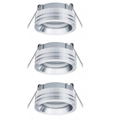 925.96 Paulmann Einbauleuchten 2Easy Premium EBL 3er Spot-Set Curl schwenkbar 51mm Alu