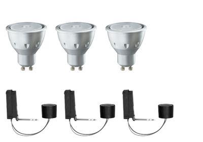 Paulmann 2Easy Einbauleuchte Basis-Set LED 3x3,5W 230V GU10 51mm