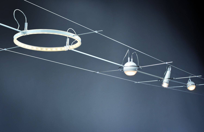Paulmann 940.84 AirLED Seilsystem L&E Zuleitung starr 30cm Weiß, Metall