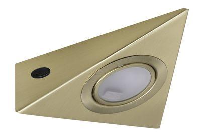 Paulmann Möbel Aufbauleuchte Set 3eck. 3x20W 60VA 230/12V G4 Messing gebürstet Metall/Glas