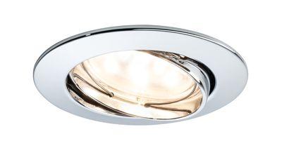 Paulmann Premium Einbauleuchte Set Coin klar rund schwenkbar LED 1x6,8W 2700K 230V 51mm Chrom/Alu Zink
