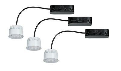 Paulmann 2Easy Einbauleuchte Basis-Set Coin Leuchtmittel klar LED 3x6,8W 2700K 230V 51mm Klar/Kunststoff