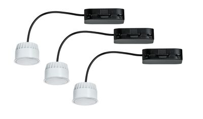 2Easy EBL Basis-Set Coin satiniert LED 3x6,8W 2700K 230V 51mm Satiniert/Kunstst