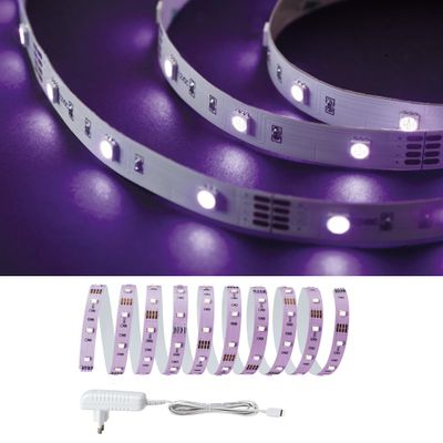 Paulmann Function BlackLight LED Stripe Set 3m 18W 230/12V DC Weiß Kunststoff