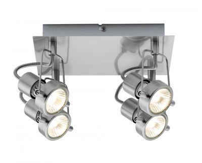 Paulmann Spotlight Rondell Techno II 4x40W GU10 Eisen gebürstet 230V Metall