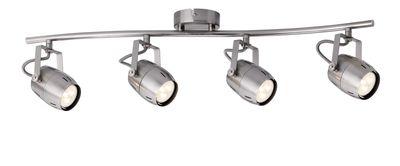 602.88 Paulmann Deckenleuchten Spotlight Gamma LED 4x3,5W GU10 230V Nickel gebürstet Metall