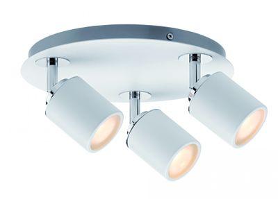 Paulmann Spotlight Tube IP44 Rondell 3x3,5W GU10 Weiß/Chrom 230V Metall