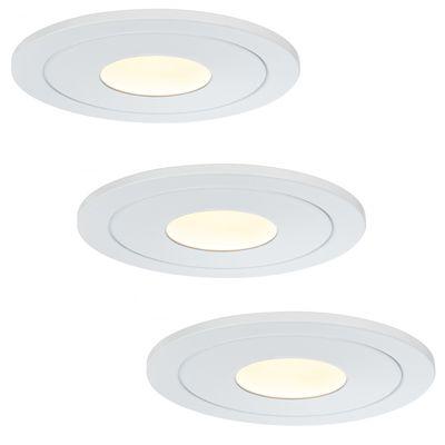 926.91 Paulmann Einbauleuchten Premium EBL Set Daz starr LED 3x5,5W 30VA 230V/700mA 110mm Weiß m./Metall