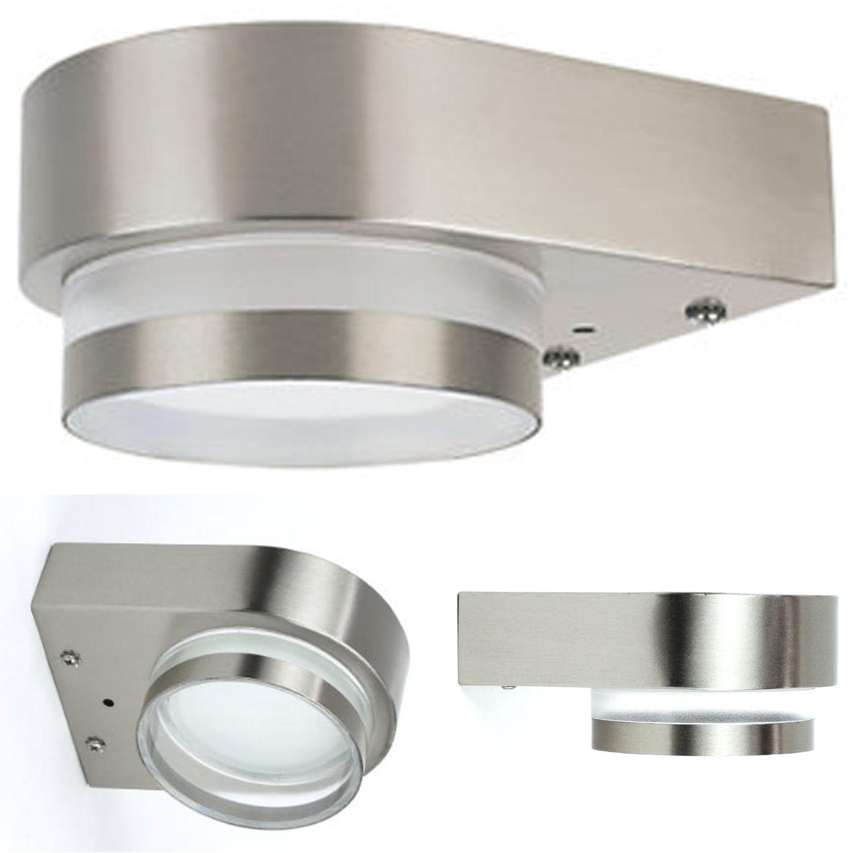Aussenleuchte aussenlampe wandleuchte edelstahl lampe gx53 for Edelstahl lampe