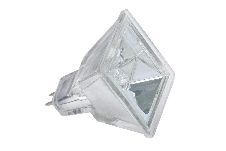 Halogen Reflektor Quadro mit Schutzglas flood 60° 35W GU5,3 12V 37mm Silber