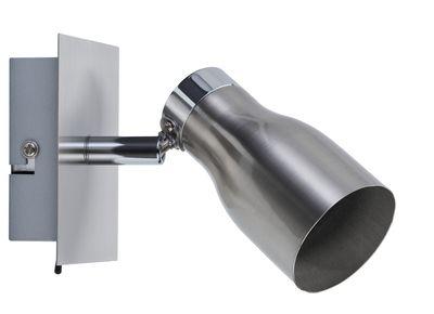 Paulmann Spotlight Meli max 1x10W GU10 Nickel satiniert 230V Metall