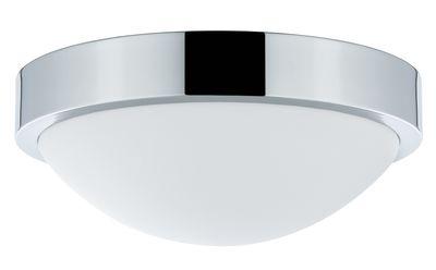 WallCeiling Falima IP44 max.18W 260mm E27 Chrom/Weiß 230V Metall/Acryl