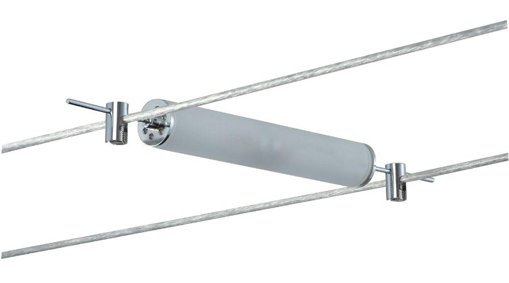 7053 Paulmann Seil Zubehör Wire System Light&Easy Spot Pipeline 2x10 W G4 Chrom/Satin12V Metall/Glas 001