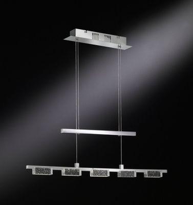 25W LED Wofi Pendelleuchten verstellbar Warm Weiß 200W Licht Dimmbar 3000 Kelvin Kristall Pendel Chrom