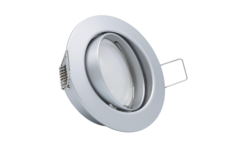 10x LED Einbauleuchte Set Chrom matt 5W 4000K 230V Modul flache ...