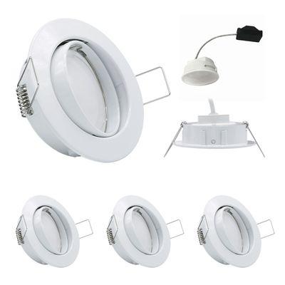 3x LED Einbauleuchten Set Weiss 5,5W 3000K 230V Modul flache Einbautiefe 35mm