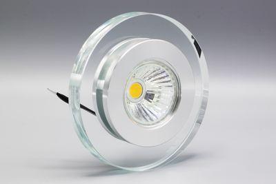 LED Einbauleuchte 4144 Glas Alu GU10 5W 3000K 230V Komplett Set