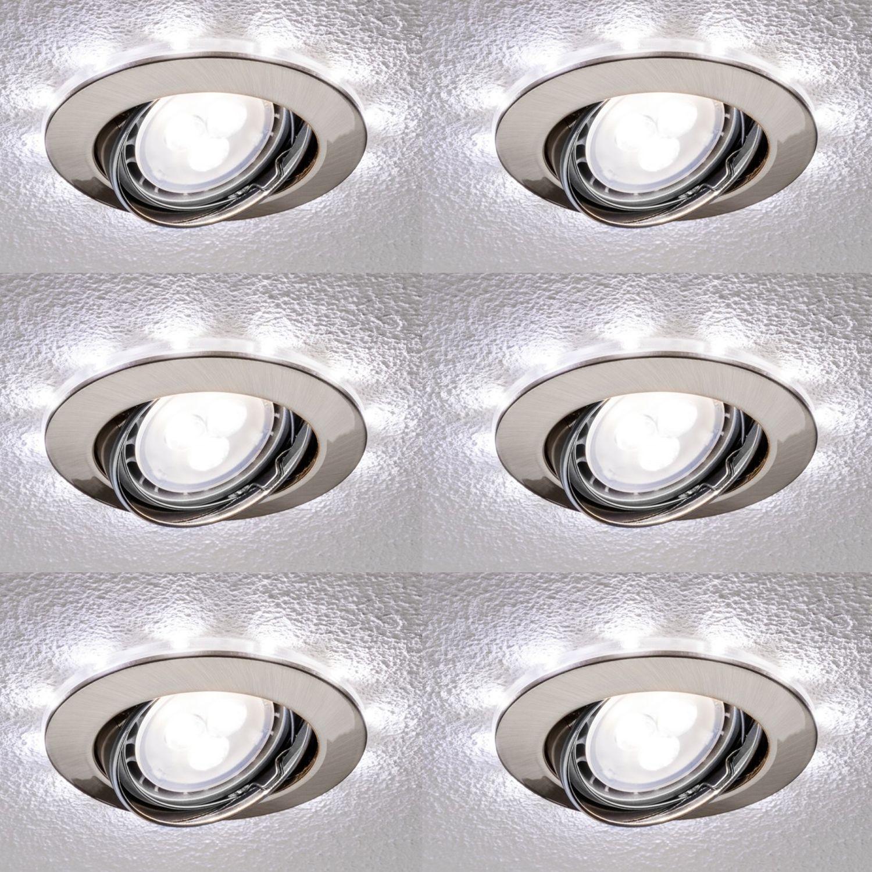 6x Paulmann Premium 4,5W LED Einbauleuchten Kaltweiss 6x250lem+6x 50lm Komplett inkl . Zubehör