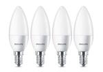 4-er Set Philips 8718696474914 E14 LED Leuchtmittel 4W ~ 25W Warmweiß satiniert 230V