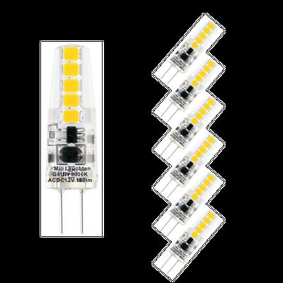 6-er Set 2W G4 LED Leuchtmittel 12V AC/DC 3000K 190 Lumen