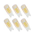 6er Set LED Leuchtmittel 3,5W G9 3000K Warmweiss 230V 320lm Klar