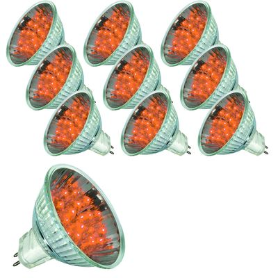 10 x 28023.10 Paulmann 12V GU5,3 Fassung LED Reflektor 20° 1W 51mm Orange