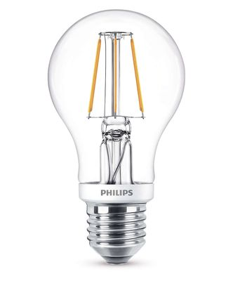 Philips 8718696573815 E27 LED Classic Leuchtmittel 4,3W 470lm Filament Warmweiß