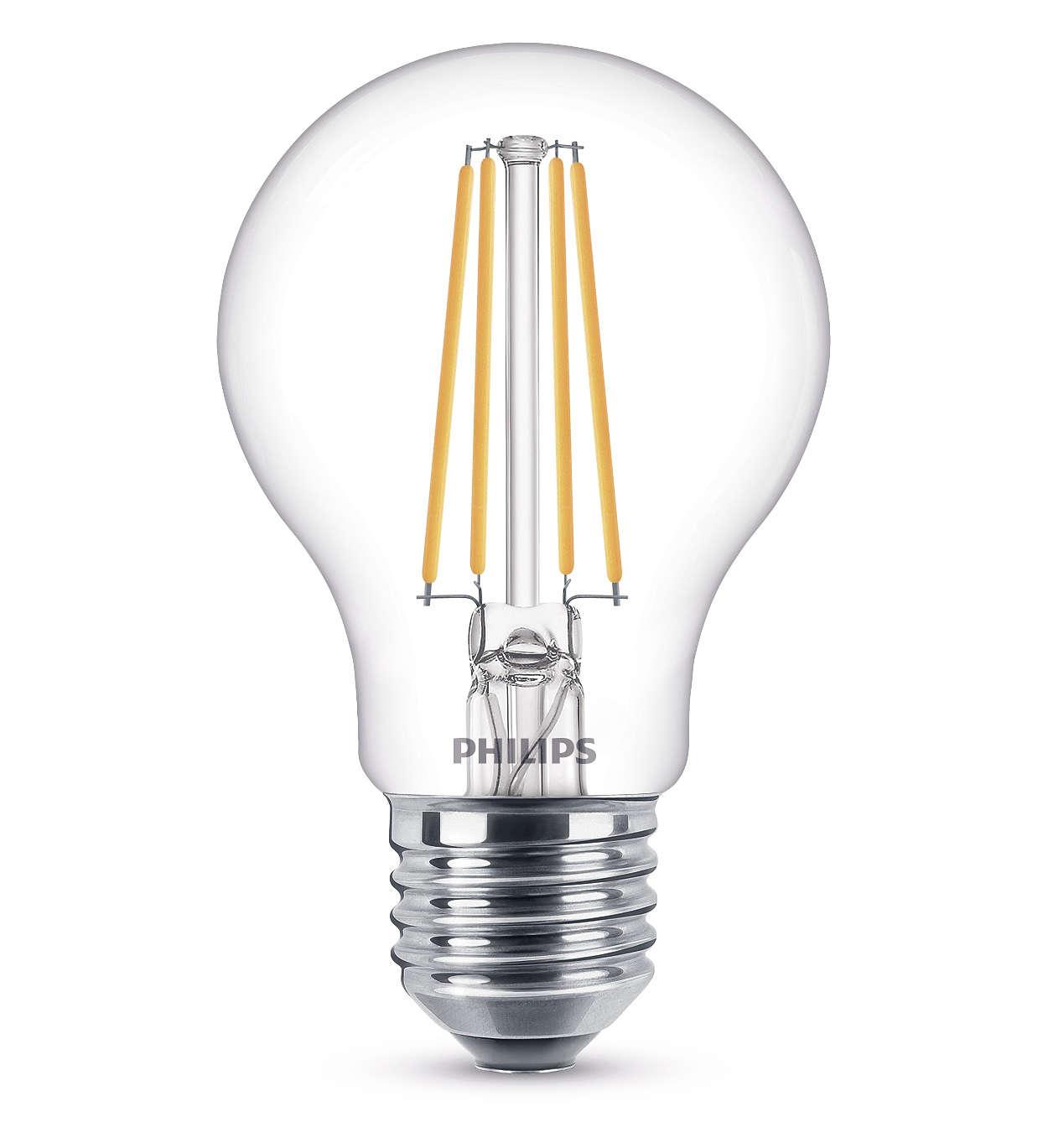 Philips 8718696742419 E27 LED Classic Leuchtmittel 7W 60mm Warmweiß Klar