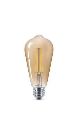 Philips 8718696575390 E27 Vintage Gold LED Leuchtmittel dimmbar 8W 2200k extra warmweiß