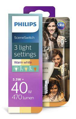 Philips 8718696598474 5,5W-4W-2W (40 W), E14-Kerzenlampe LED Leuchtmittel