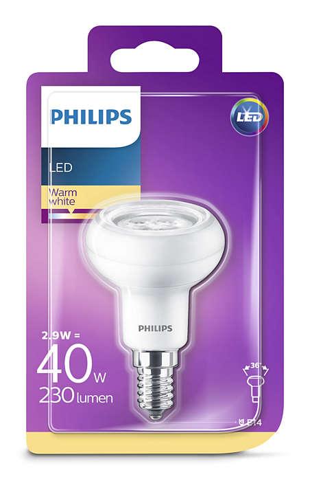 4er Pack 8718696578452 4er Set Philips Reflektor mit Drehsockel, 2,9 W (40 W), E14, warmweiß, Reflektor