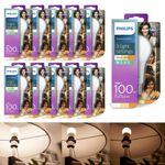 10x Philips LED Leuchtmittel, 8718696706794 14-7-3,5 W (100 W), E27, Warm/sehr warm/extrawarm