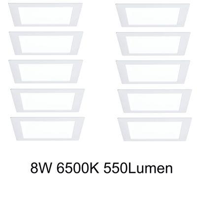 10x 926.13 Paulmann Premium EBL Set Panel eckig LED 1x8W 6500K 8VA 230V/350mA 210mm Weiß m/Alu