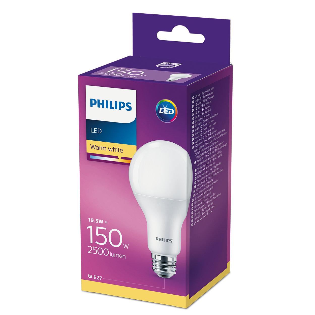 Philips, LED Leuchtmittel 8718696813799 19,5W (150W), E27, warmweiß, 2500Lumen