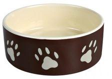 Keramik-Napf, braun-beige