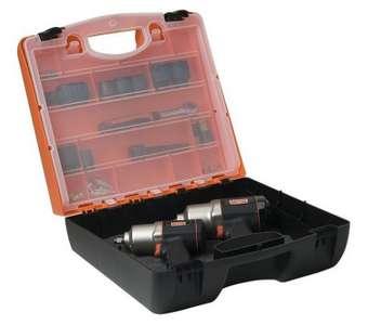 Bahco Kunststoffkoffer leer PTB103390 PP orange schwarz 395x365x140 mm mit Schaumstoffeinlage