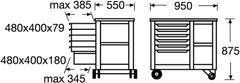 Rollwerkbank 950x550x875 Trgf.700kg    6620540 15  Bild 3