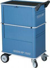 Werkzeugwagen m.4Schubladen GEDORIT 1580 blau Schubl.silber Abdeckung schwarz   6627550 15  Bild 4