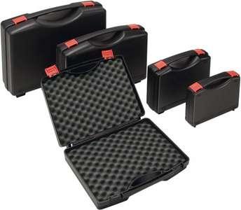 Kunststoffkoffer PP schwarz 275 x 230 x 83 mm m. Schaumstoffeinlage